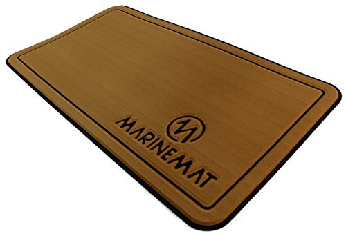 Yeti Tundra 45 Cooler Pad by Marine Mat ''Stick It Series'' (Toffee Brushed/Black) by Marine Mat