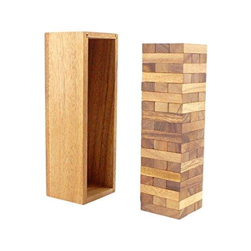 BRAIN GAMES Wooden Tower Game 54 Blocks, 11.42 Inch, L