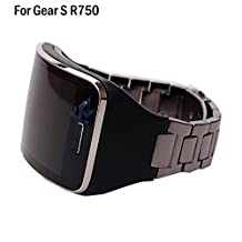 Allrun 1PC Replacement Stainless Steel Metal Band Wristband Bracelet Strap For Samsung Galaxy Gear S SM-R750 Smart Watch (No Tracker) (Zinc Alloy)
