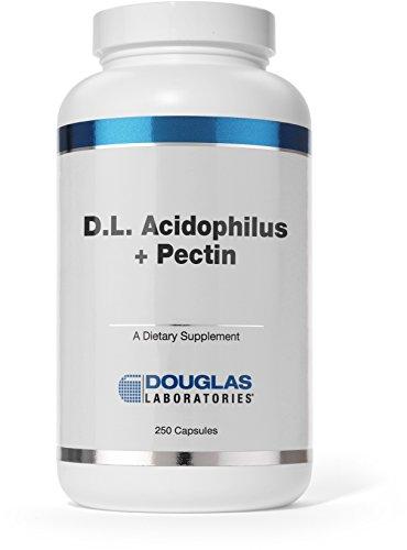 Douglas Laboratories® - D.L. Acidophilus + Pectin - Lactobacillus Complex with Citrus Pectin Fiber - 250 Capsules - Pectin Dietary Fiber