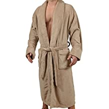 Wanted Mens Lounge Bathrobe Plush Micro Fleece with Front Pockets