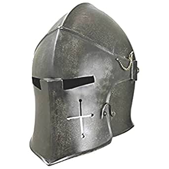 Amazon.com: Dark Visored Barbuta Helmet Armour by Thor ...