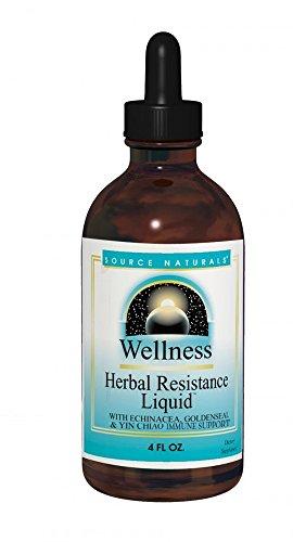 Herbal Vitamins Liquid - Source Naturals Wellness Herbal Resistance Liquid Immune Defense Supplement & Immunity Booster with Echinacea, Elderberry & Yin Chiao - Alcohol Free - 4 OZ