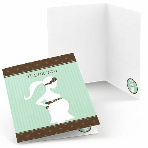 Mommy Silhouette (It's A Baby - Mommy-To-Be Silhouette - Baby Shower Thank You Cards (8 count))