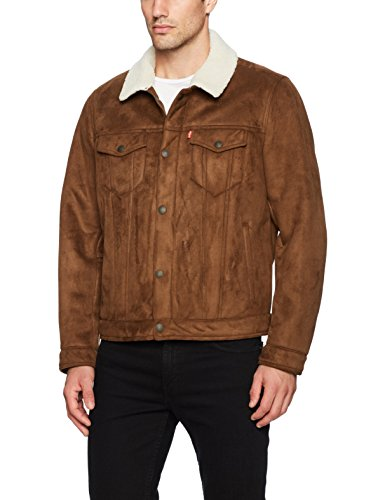 - Levi's Men's Faux Shearling Sherpa Trucker Jacket, Chestnut, Large