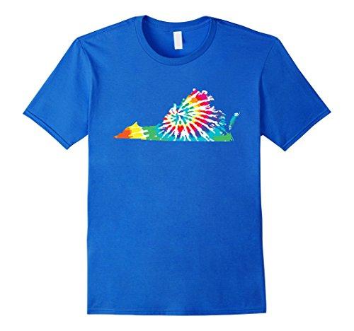 Tie Dye Virginia Shirt Tie Dyed Print State Shape Tee