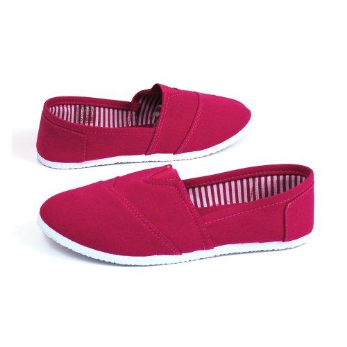 Rosegirl Womens Canvas Ballet Flats Slip on Espadrille Loafers