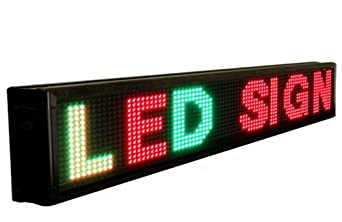 """Samsung LED Sign Three-Color LED Sign (Red, Green, Yellow), 15"""" X 78"""""""