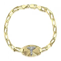 10K Ladies Diamond Cut Medical Alert Bracelet - Medical Data - Engraving Available - Open Link - Solid