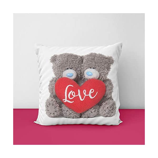 41sXB2rYZsL Teddy Love Square Design Printed Cushion Cover