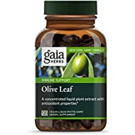 Gaia Herbs Olive Leaf, Vegan Liquid Capsules, 120 Count - Daily Immune Support and Cardiovascular Health Supplement, Antioxidant, 680mg