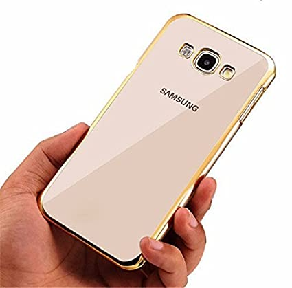 info for d8f7c b29b9 Johra for Samsung Galaxy On8 Back Cover, Electroplated Gold Golden Edge  Clear Soft Transparent Back Case Cover for Samsung On8 Transparent Cover