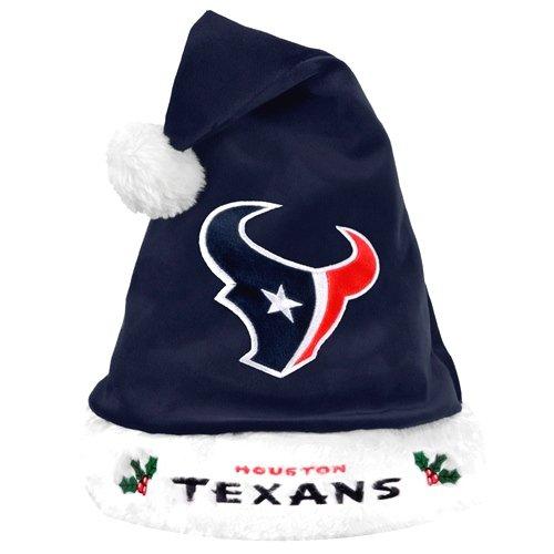 7a8f55f2b78b9c Amazon.com : NFL Santa Hat NFL Team: Houston Texans : Sports Fan Novelty  Headwear : Clothing