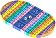 ZZCC Big Size Bubble Fidget Toy, Rainbow Chess Board Push Bubble Popper Fidget Silicone Sensory Toy for Parent