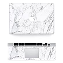 "Vati Leaves Removable Beautiful white marble Protective Full Cover Vinyl Art Skin Decal Sticker Cover for Apple MacBook Air 13.3"" inch (A1369/A1466)"