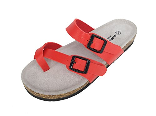 ASHVIEE Slide Sandals Cork Footbed Casual Sandals