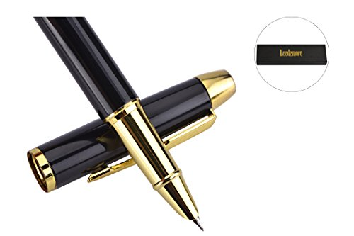 fountain-pen-with-gold-plated-medium-metal-tip-nib-and-ink-refill-converter-smooth-and-easy-writing-