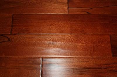 "Elk Mountain Maple Red Mahogany 3/4"" x 4-3/4"" Hand Scraped SOLID Hardwood Flooring NH202 SAMPLE"
