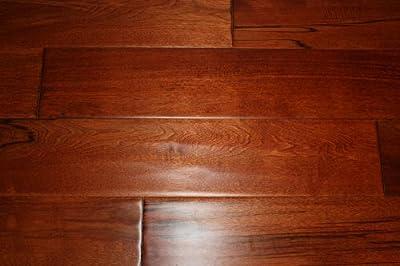 "Elk Mountain Maple Red Mahogany 3/4"" x 4-3/4"" Hand Scraped SOLID Hardwood Flooring NH202 SAMPLE"