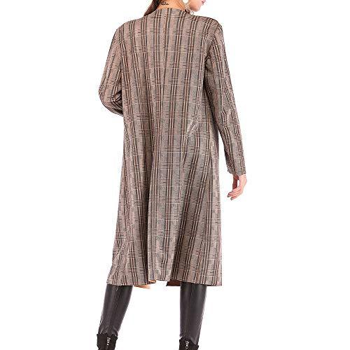 Sólido Parka Caqui abrigos Strir Cálido Color Cárdigan Para Mujer Elegantes De Punto Chaqueta 0W7af7xnz
