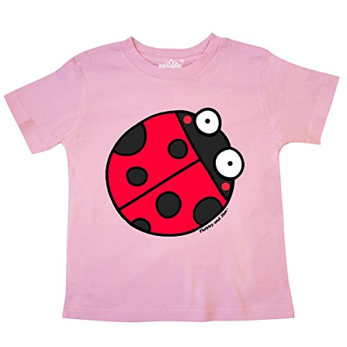 - inktastic - Ladybug Toddler T-Shirt 4T Pink - Flossy and Jim 2ce98