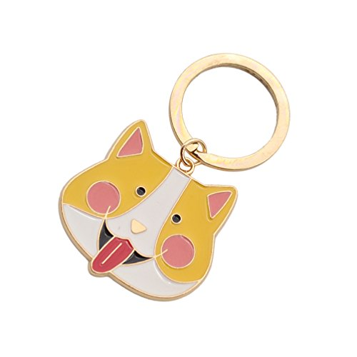 Husky Corgi Bulldog Poodle Keychain Alloy Animal Charm Cute Keyring For Women Girls 1Pc