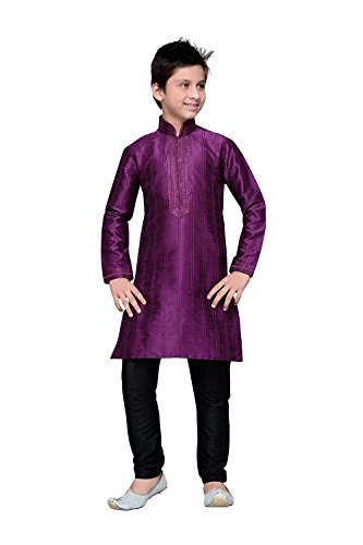 Asmafashion Store Indian Designer Partywear Ethnic Wedding Purple Wedding Readymade Kid by Asmafashion Store