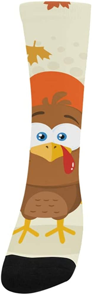 Merci Funny Turkey Thanksgiving Polyester Crazy Warm Crew Soccer Compression Knee High Dress Troser Sock For Men Women Kids And Toddler Botts Shoes Outdoor Use Machine Washable
