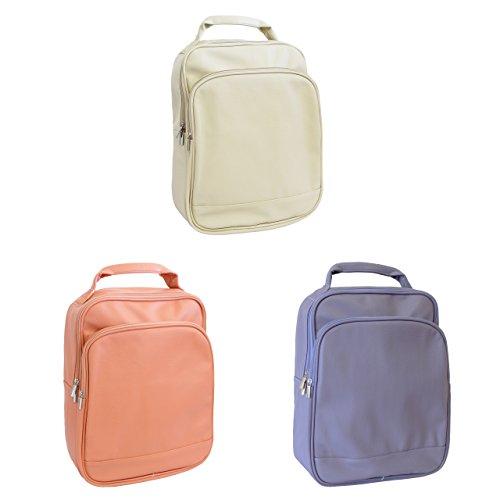 Modischer Luxelu Laptop/ Macbook Rucksack für bis zu 15.6 Zoll Laptops - rosa/ lila/ beige