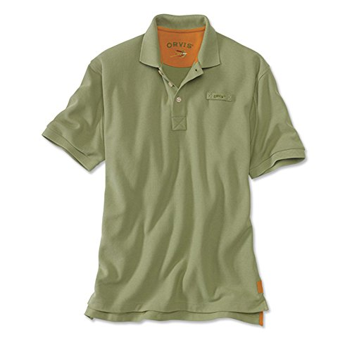 Men's The Orvis Signature Polo / Tall, Light Olive, X Large