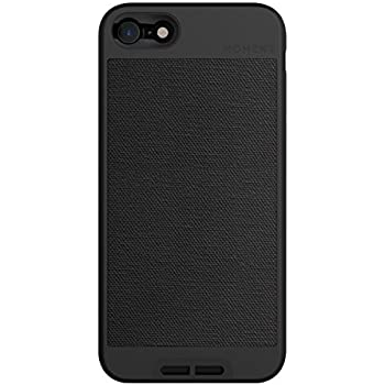 iPhone 8 / iPhone 7 Case || Moment Photo Case in Black Canvas - Thin, protective, wrist strap friendly case for camera lovers.
