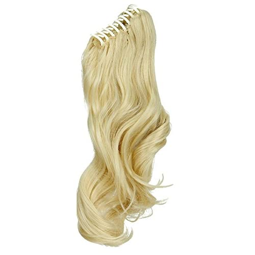 Synthetic Claw Jaw Clip In Ponytail Hair Extensions Long Natural Wave Straight Hairpieces 16 Inches For