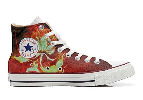 mys Converse All Star Zapatos Personalizados Unisex (Producto Handmade) Flor
