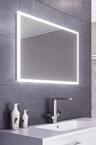 DIAMOND X COLLECTION Lilja Slimline Edge LED Bathroom Mirror Demister Pad & Sensor k472