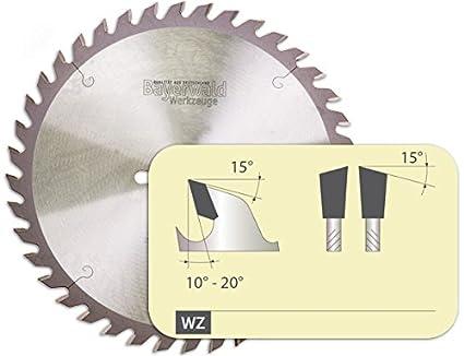 Bayerwald - HM Tischkreissägeblatt - Ø 254 mm x 2, 8 mm x 30 mm   Wechselzahn (40 Zähne)   Kombinebenlöcher für Bosch GTS 10 & PTS 10 Bayerwald Werkzeuge