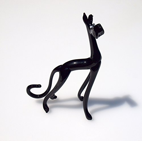 Gifts Decor Collectibles Great Home - Cute Glass Animals Great Dane, Black Dog
