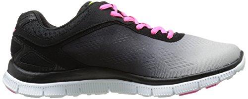 Skechers Sport Icona Stile Donna Fashion Sneaker Nero / Grigio Chiaro
