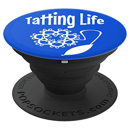 Shuttle Tatting Lacemaking I Love to Tat Gift - PopSockets Grip and Stand for Phones and Tablets