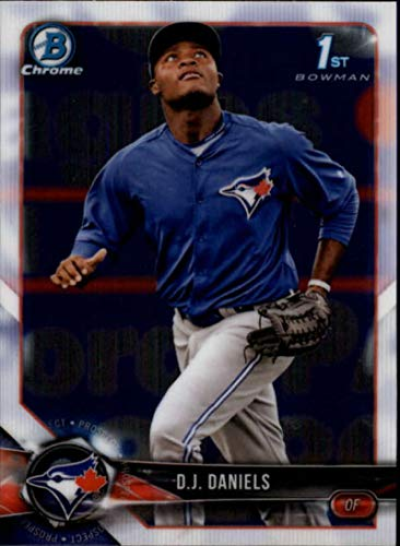Bowman Chrome Mlb Rookie Card - 2018 Bowman Chrome Prospects #BCP193 D.J. Daniels Toronto Blue Jays RC Rookie MLB Baseball Trading Card
