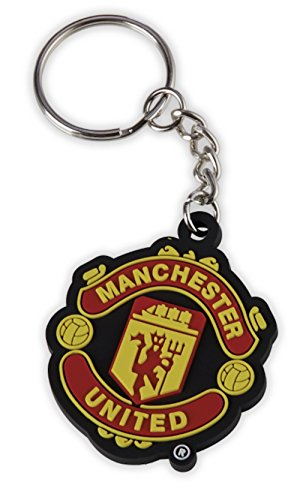 Manchester United FC Crest Keyring - Official Keychain - Perfect Manchester United FC Gift - Imported - For Fans of All Ages - Quality Team Crest Design
