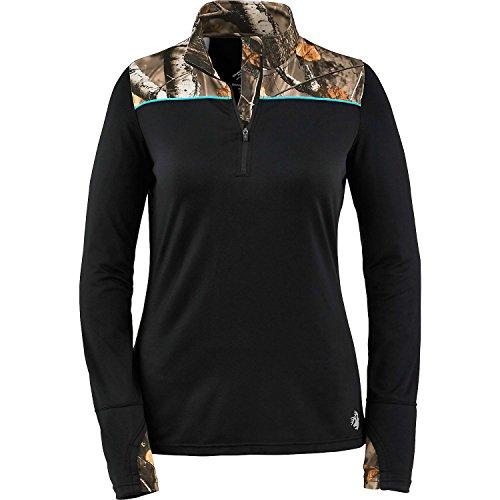 Legendary Whitetails Ladies Full Range Performance 1/4 Zip Black Large