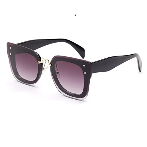 V House Celebrity Fashion Square Thick Beveled Frame Sunglasses for Women - Little Hut Web