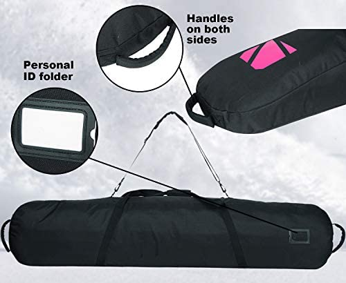 """AUMTISC Snowboard-Bag Board-Bags for Travel Bags with Storage Compartments Available Length in 61"""" 65"""""""