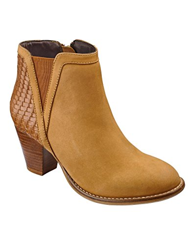 Womens Sole Diva Woven Boots EEE Fit Tan