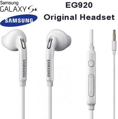 TPC© Auriculares Manos Libres Original Samsung EO-EG920LW para Galaxy S6, S7, Edge, Plus, Note 4,5, Headset Earbuds, Blanco, Retail