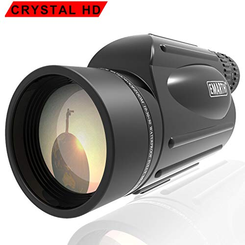 Emarth High Power 10-30X50 Zoom Monocular Telescope BAK4 Prism Waterproof Fog Proof Men Gifts for Bird Watching Camping Hunting Wildlife Traveling