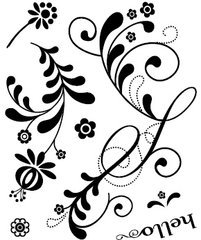 Basic Grey Urban Praire Clear Stamps - Flowers
