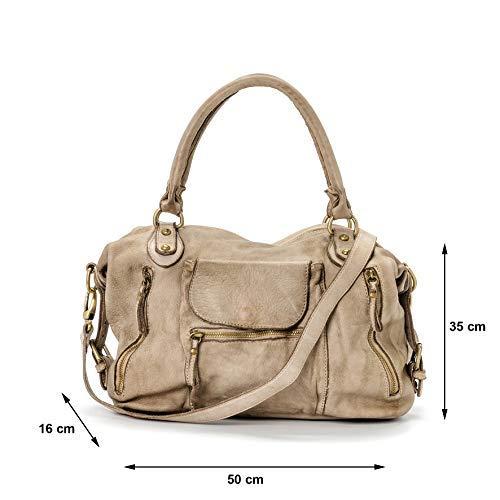 In Large Vera Bag cammello Vintage Ira Miami Pelle Italy Modello Donna Valle Streets Borsa Cammello Del Made qz77SwIF