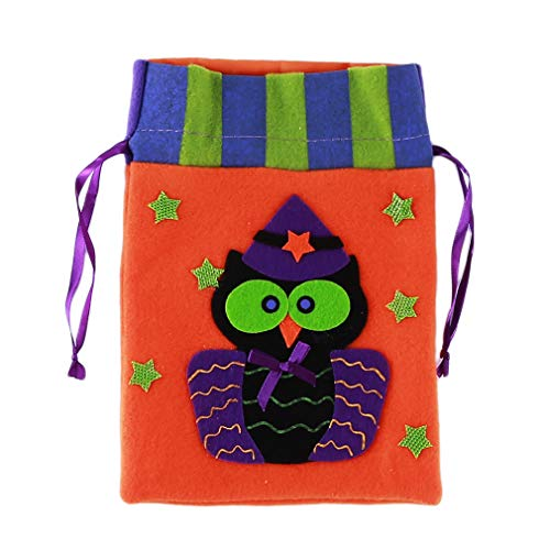 LALANG Halloween Party Holiday Trick or Treat Goody Bag for Costume Accessory Candy Drawstring Bag Kids,Owl Style]()