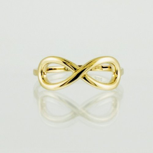 10k Yellow Gold Infinity Ring in Elegant Polished Finish (5)